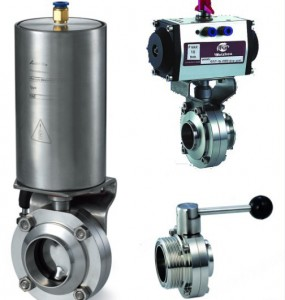 Sanitary-Butterfly-Valve-Stainless-Steel-DIN-3A-BPE-ISO-SMS