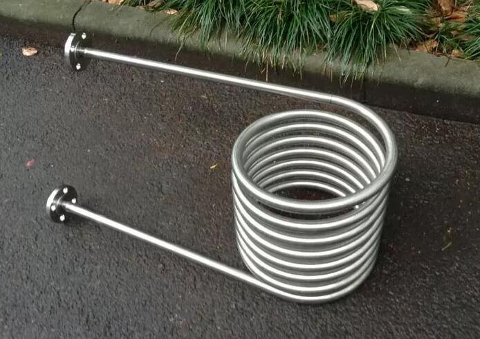 Спиральные трубки из нержавеющей стали, двойная труба, змеевик