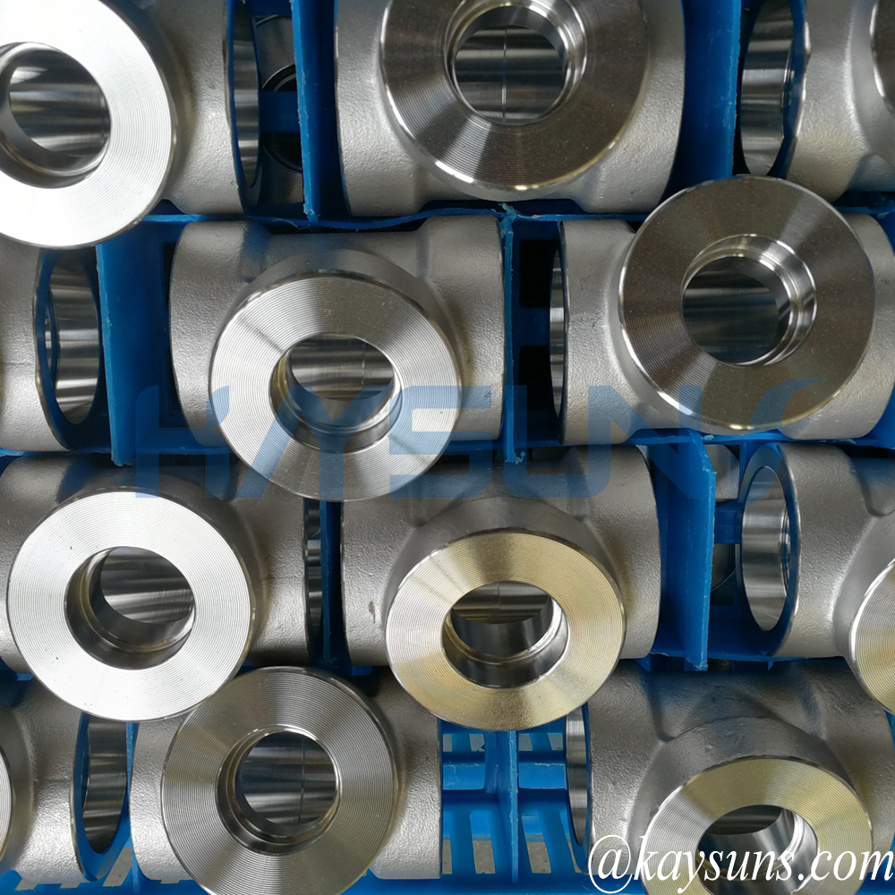 stainless steel forged tees